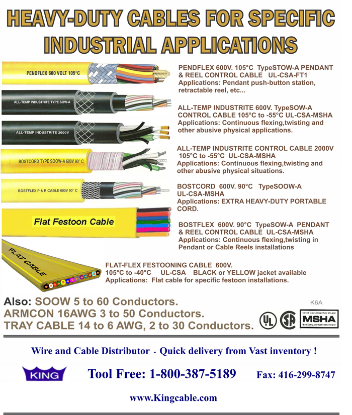 Products List | KING CABLE CANADA CORP.